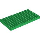 LEGO Green Brick 8 x 16 (4204 / 44041)